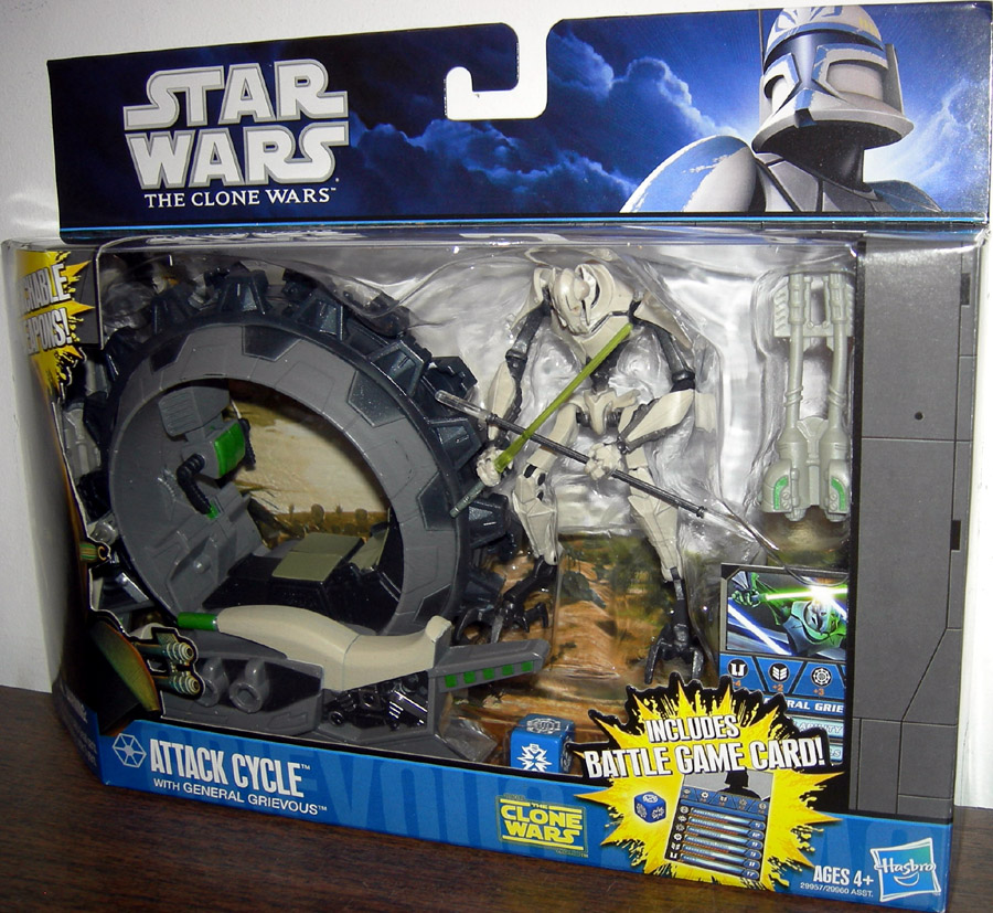 Attack Cycle With General Grievous Action Figure Clone Wars