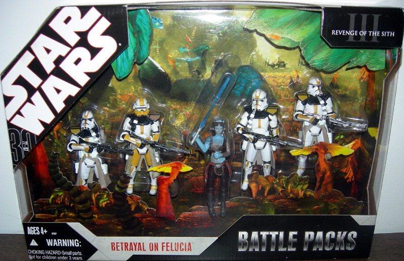 Betrayal Felucia Battle Packs Figures Star Wars Revenge Sith