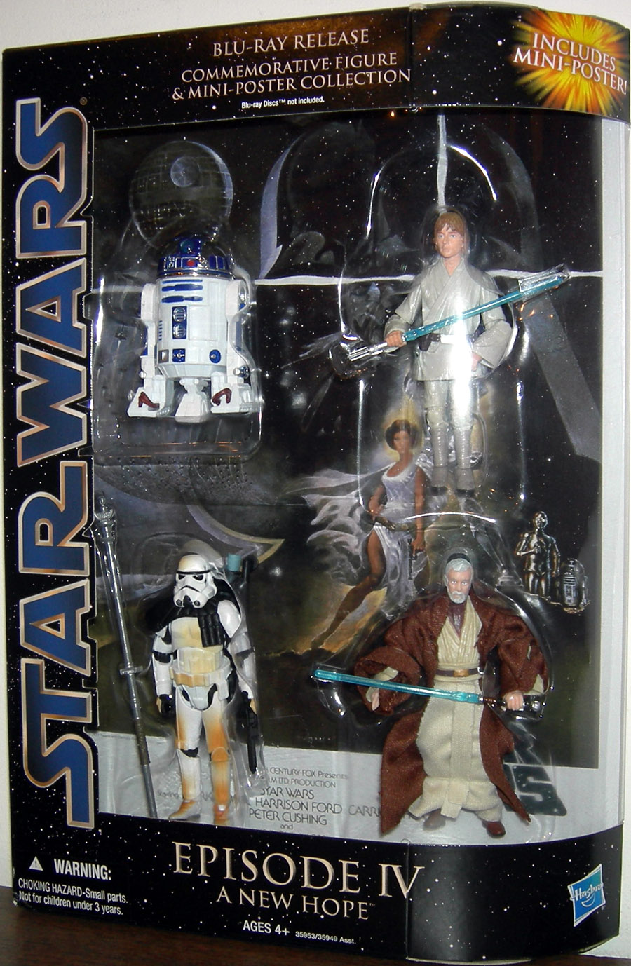 Star Wars Blu Ray Release Commemorative Action Figures Mini Poster Collection Episode Iv New Hope Set