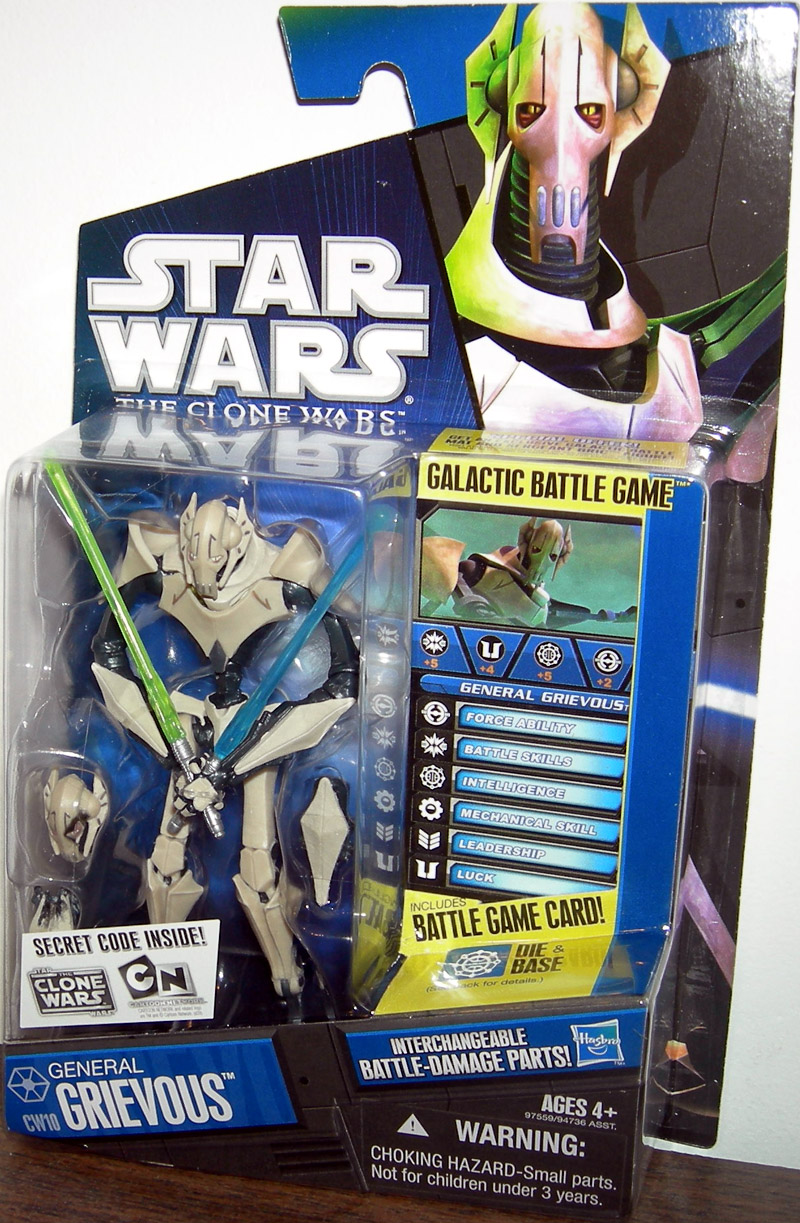 General Grievous Cw10 Action Figure Clone Wars Hasbro