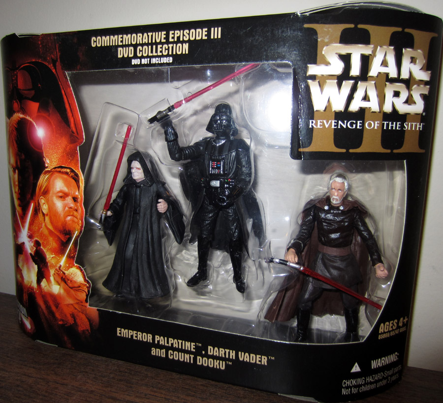 Sith Lords Collection Figures Revenge Sith Dvd Star Wars