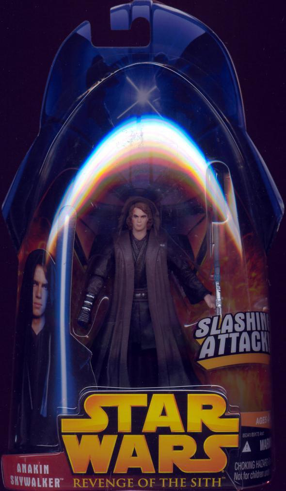 Anakin Skywalker Figure Revenge Sith 28 Red Yellow Eyes Star Wars