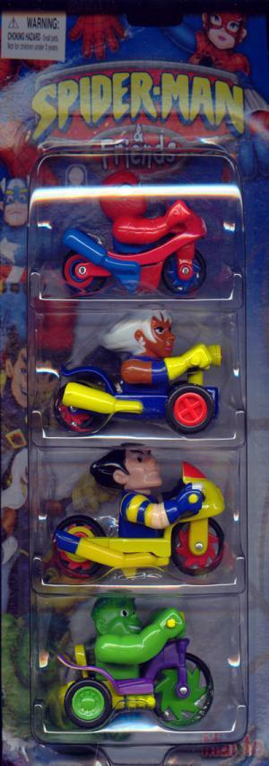 Bikes & Trikes 4-Pack (Spider-Man, Storm, Wolverine & Hulk)