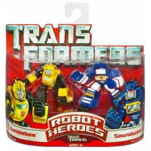 Bumblebee & Soundwave (Robot Heroes)