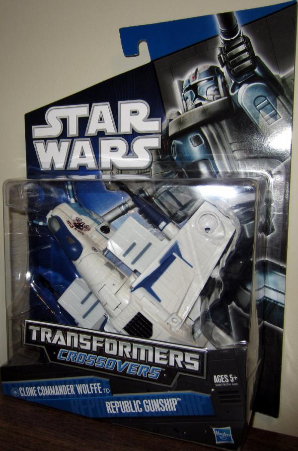 Clone Commander Wolffe to Republic Gunship (Transformers Crossovers)