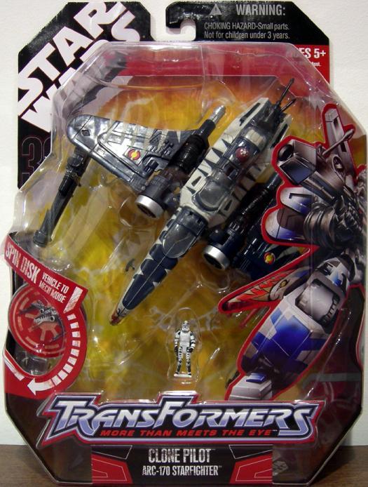 Clone Pilot ARC-170 Starfighter (Transformers, Clone Wars)