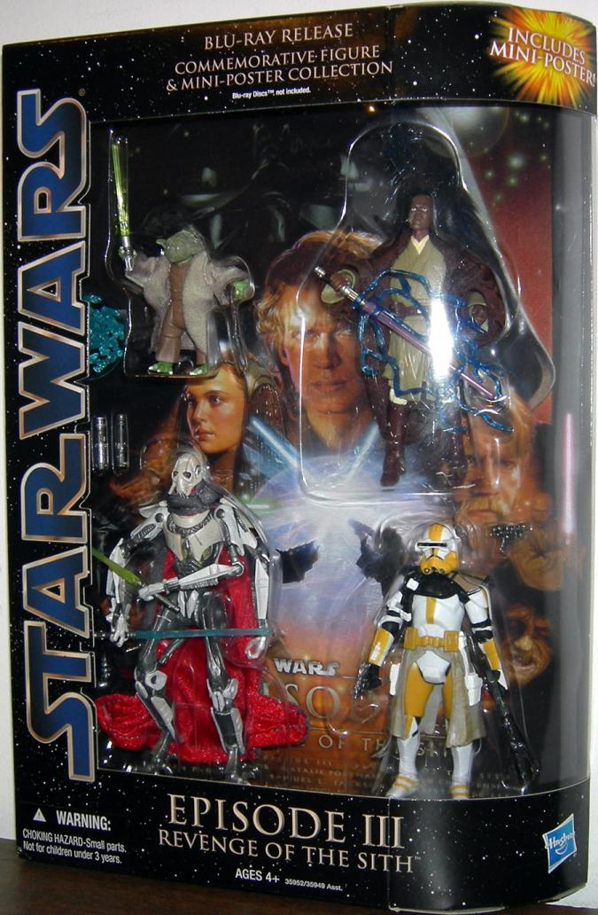 Star Wars Blu Ray Release Commemorative Action Figure Mini Poster Collection Episode Iii Revenge Sith Set