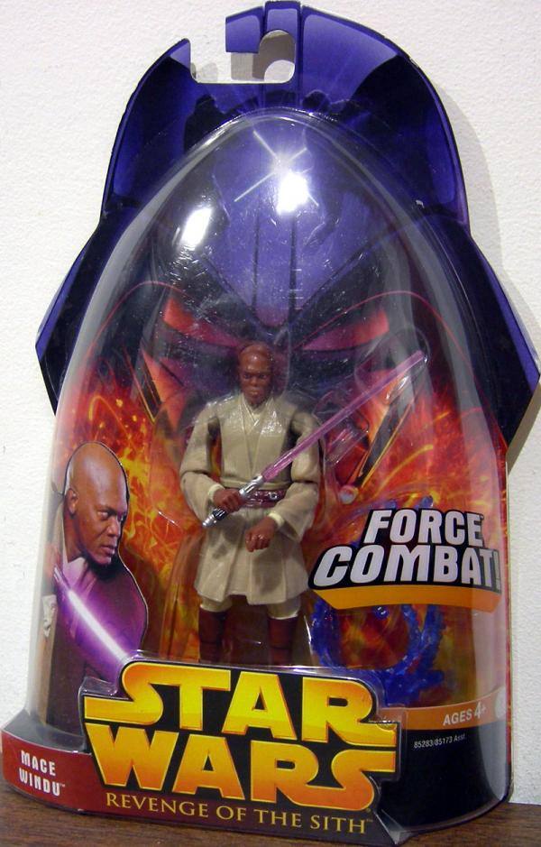 Mace Windu Force Combat Action Figure Revenge Of The Sith 10