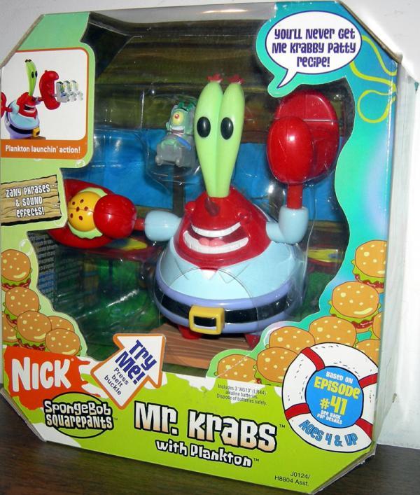Mr. Krabs with Plankton