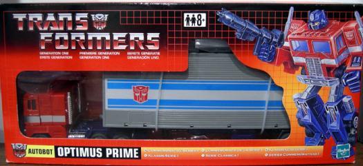 Optimus Prime (Commemorative Series I, UK box)
