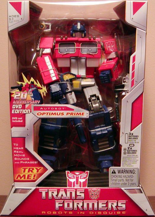 Optimus Prime (20th Anniversary DVD Edition)