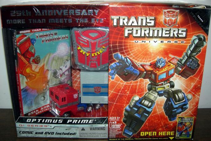 Transformers Universe G1 Series 25th Anniversary Optimus Prime & DVD