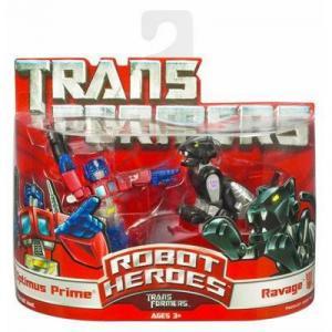 Optimus Prime & Ravage (Robot Heroes)