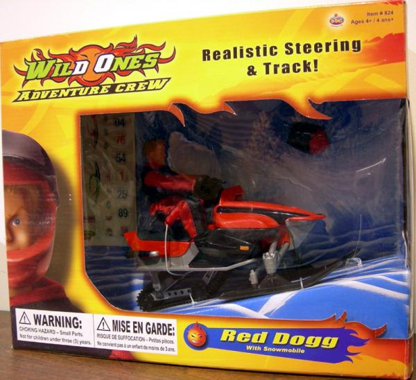 B-Bel Wild Ones Adventure Crew Red Dogg With Snowmobile
