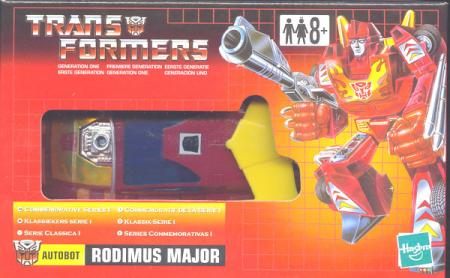 Rodimus Major (Commemorative Series I, UK box)