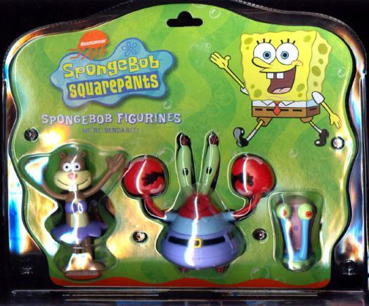 SpongeBob Figurines (Sandy Cheeks, Mr. Krabs & Gary 3-Pack)