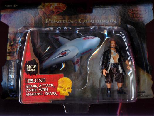 Shark Attack Pintel with Snapping Shark (3 1/2