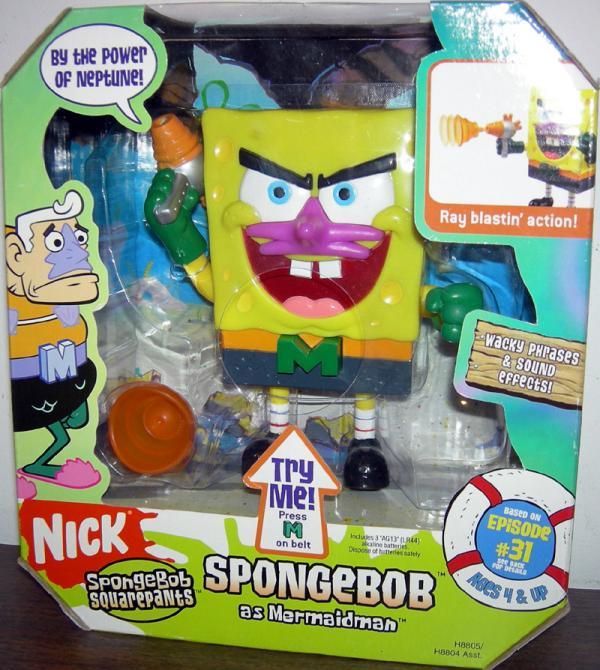 SpongeBob as Mermaidman