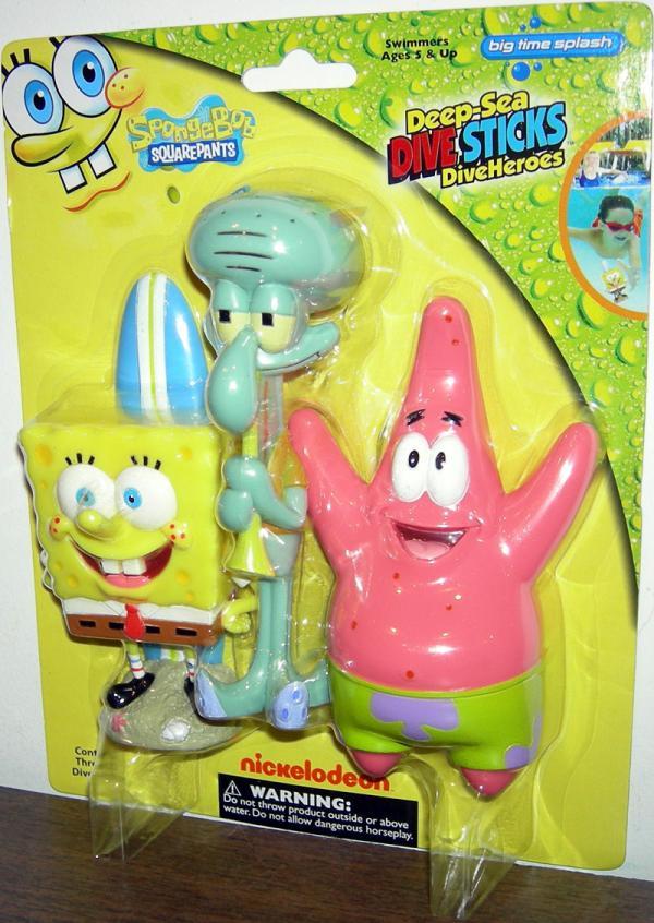 SpongeBob Squarepants Deep-Sea Dive Sticks DiveHeroes 3-Pack