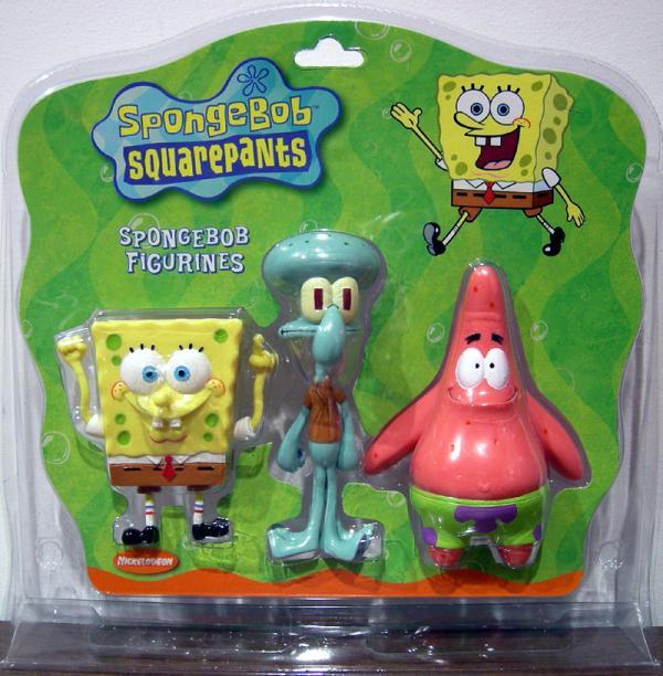 SpongeBob Figurines (SpongeBob, Squidward Tentacles & Patrick Star 3-Pack)