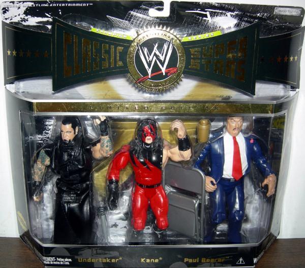 Undertaker, Kane & Paul Bearer 3-Pack