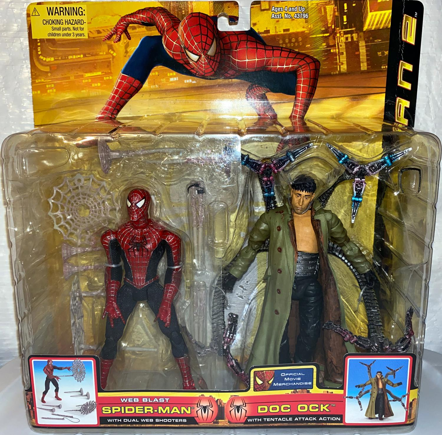 Web Blaster Spider-Man and Doc Ock with Tentacle Attack Action