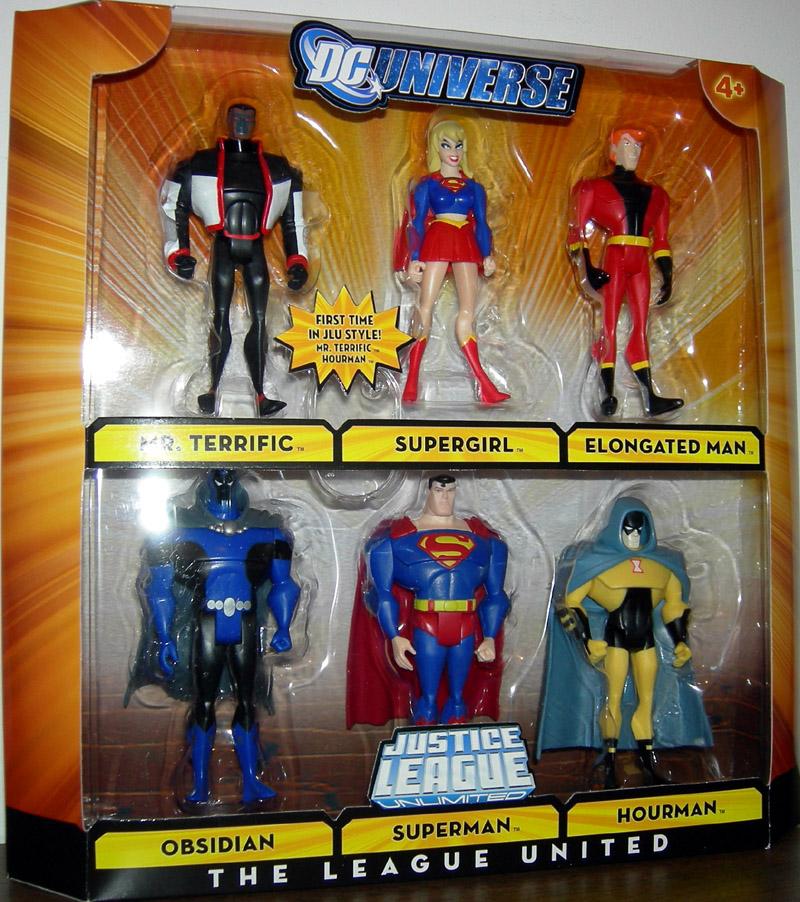 2009 Justice League Unlimited THE LEAGUE UNITED 6 PACK MR TERRIFIC Mint
