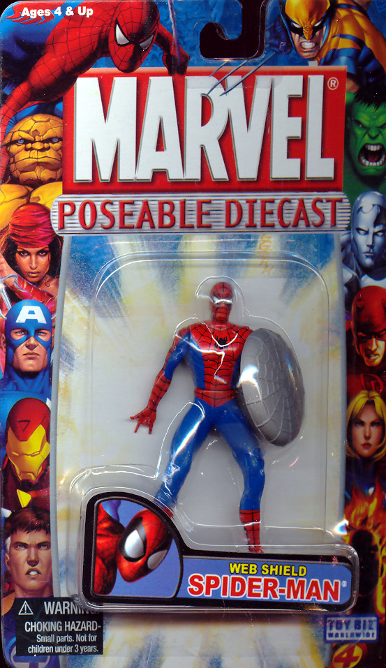 Web Shield Spider Man Poseable Diecast Action Figure